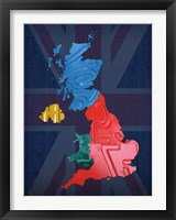 Framed UK Map