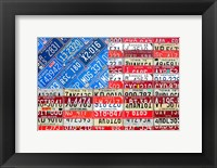 Framed USA Flag