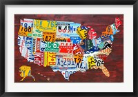 Framed USA Map I