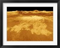 Framed 3D Perspective View of Sapas Mons on Venus
