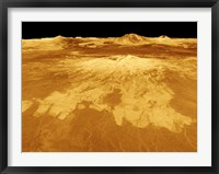 Framed 3D Perspective View of Sapas Mons on Venus