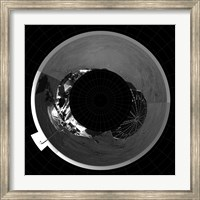 Framed Polar Projection of Mars