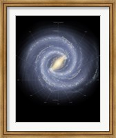 Framed Milky Way Galaxy (annotated)