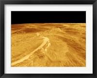Framed 3D Perspective View of Latona Vorona and Dali Chasma on Venus