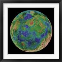 Framed Venus Centered on the South Pole