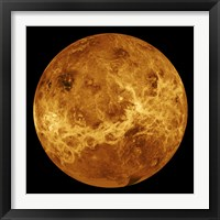 Framed Global view of the Surface of Venus