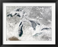Framed Satellite view of the Great Lakes