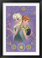 Framed Frozen Fever - Anna & Elsa