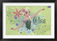 Framed Frozen Fever - Elsa