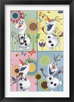 Framed Frozen Fever - Olaf
