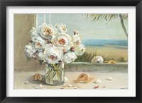 Framed Coastal Roses
