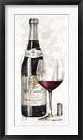 Framed Pencil Wine I