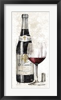 Framed Pencil Wine I