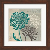 Framed Chrysanthemums I