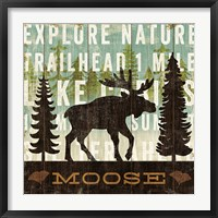 Framed Simple Living Moose