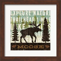 Framed Simple Living Moose