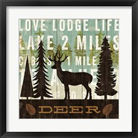 Framed Simple Living Deer