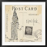 Framed Postcard Sketches I