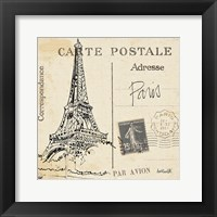 Postcard Sketches III Framed Print