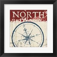 Framed Nautical I Red