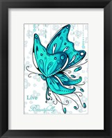 Live Beautifully Framed Print