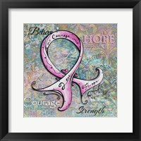 Framed Pink Ribbon Hope