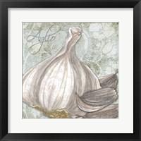 Framed Buon Appetito Garlic