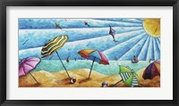 Beach Life I Framed Print