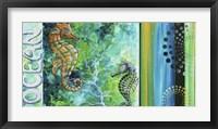 Framed Ocean Sea of Whimsy