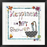 Framed Happiness Is A Hot Shower