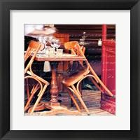Framed Paris Cafe Letter