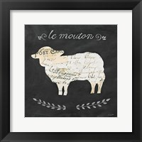 Framed Le Mouton Cameo Sq