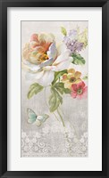 Framed Textile Floral Panel II