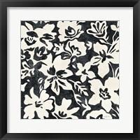 Framed Chalkboard Floral I