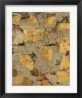 Framed Gilded Stone Gold I