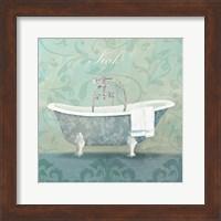 Framed Damask Bath Tub