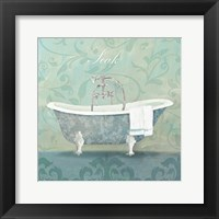Framed Damask Bath Tub
