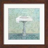 Framed Damask Bath Sink