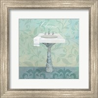 Framed Damask Bath Sink