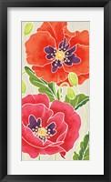 Framed Sunshine Poppies Panel I