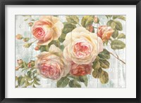 Framed Vintage Roses on Driftwood