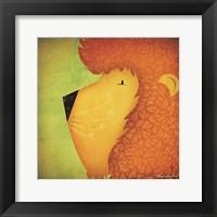 Lion WOW Framed Print