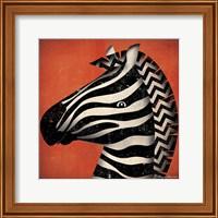 Framed Zebra WOW