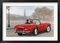 Framed Ride in Paris III Red Car