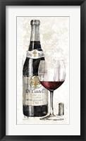 Pencil Wine I Framed Print