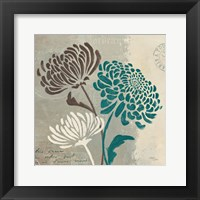 Framed Chrysanthemums II