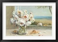 Framed Coastal Roses v.2
