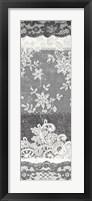 Vintage Lace Panel II Framed Print