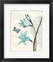 Framed Lila Bleu II
