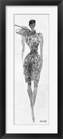 Framed Fashion Sketchbook VIII